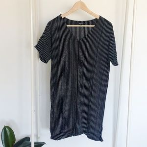 Madewell Black and White Dress